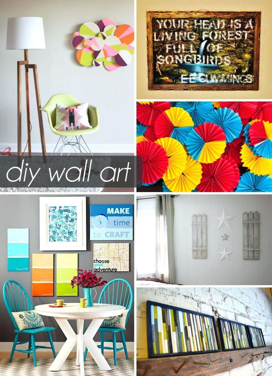 Wall Ideas : Diy Wall Art Using Paper Easy Diy Wall Art Canvas Within Homemade Wall Art (View 16 of 20)