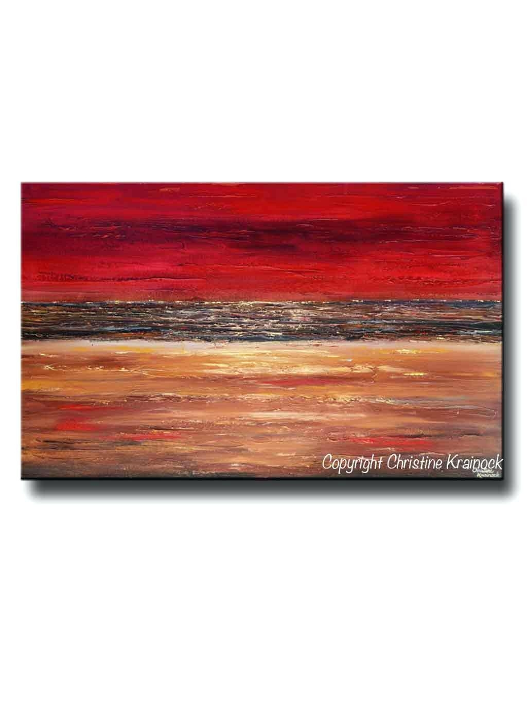 Wall Ideas : Giclee Print Art Abstract Red Painting Canvas Prints Regarding 48X48 Canvas Wall Art (View 15 of 20)