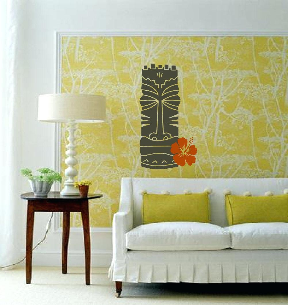 Wall Ideas : Hawaii Wooden Wall Art Tropical Outdoor Metal Wall With Regard To Hawaiian Wall Art (Image 15 of 20)
