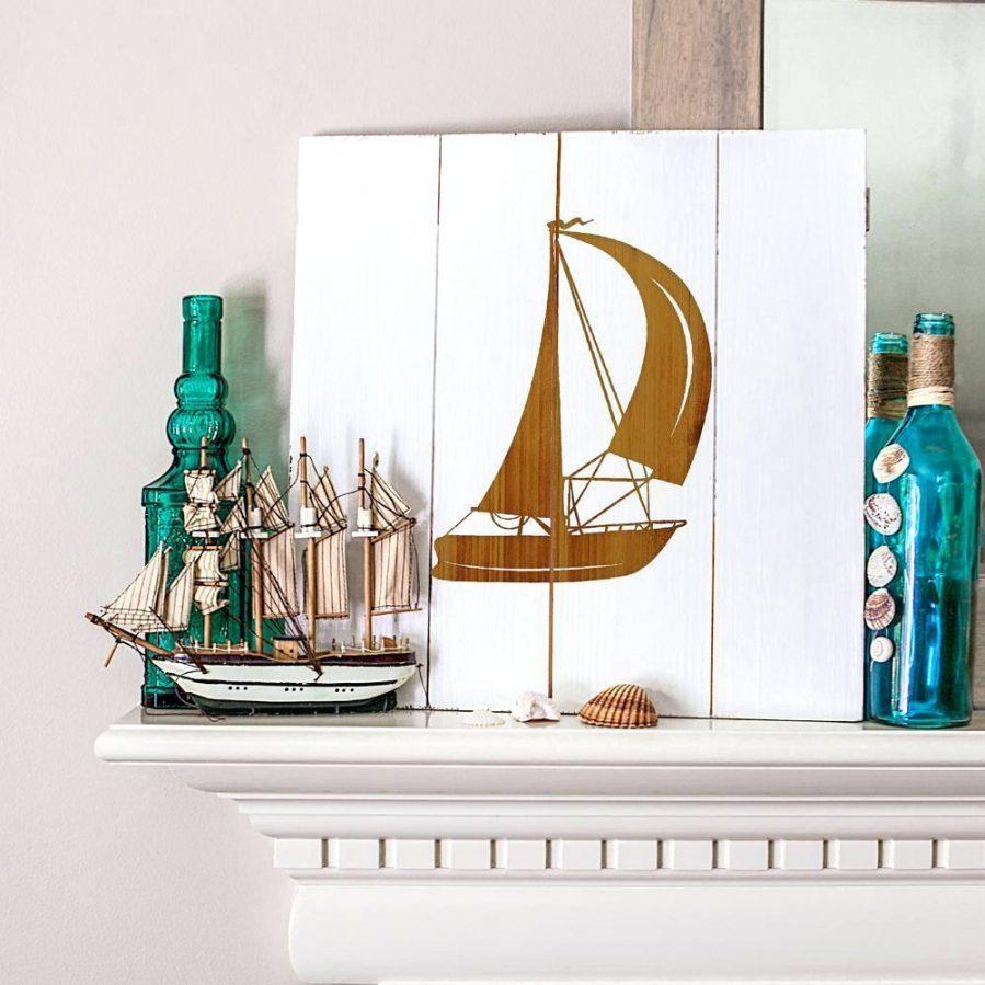 Wall Ideas : Large Metal Sailboat Wall Art Rustic Sailboat Wooden With Regard To Sailboat Metal Wall Art (Image 18 of 20)