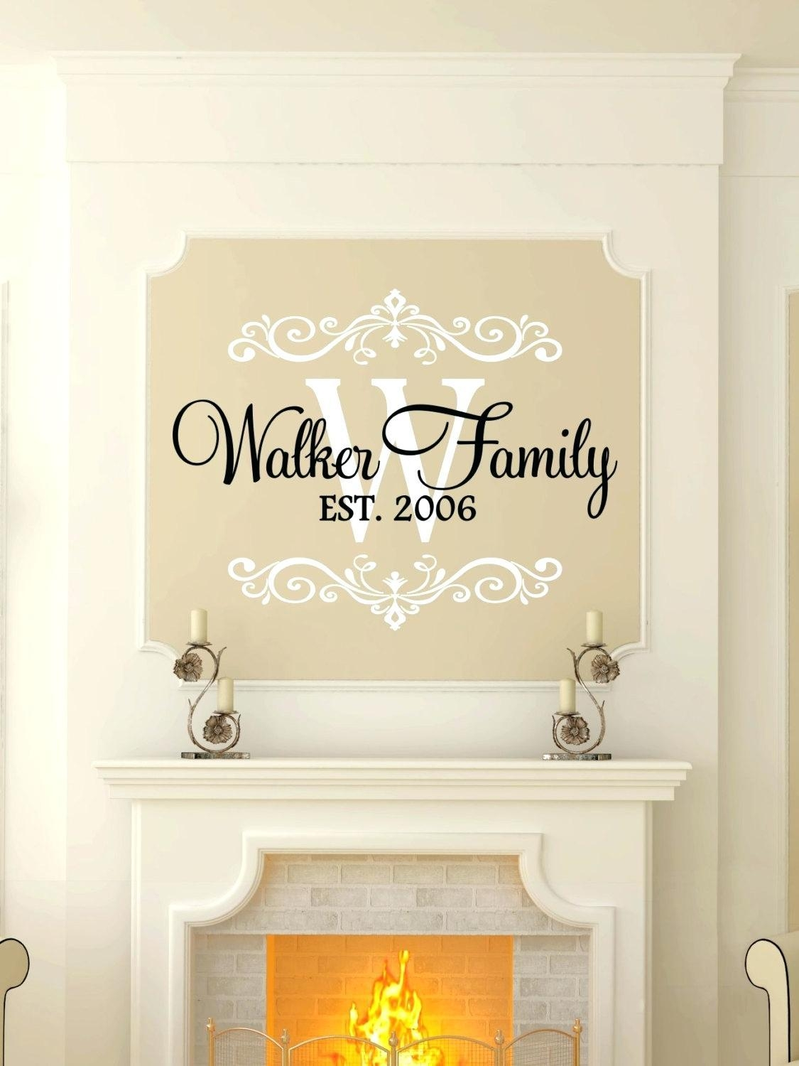 Wall Ideas : Last Name Wall Art Gifts Last Name Wall Art Custom With Framed Monogram Wall Art (Image 19 of 20)