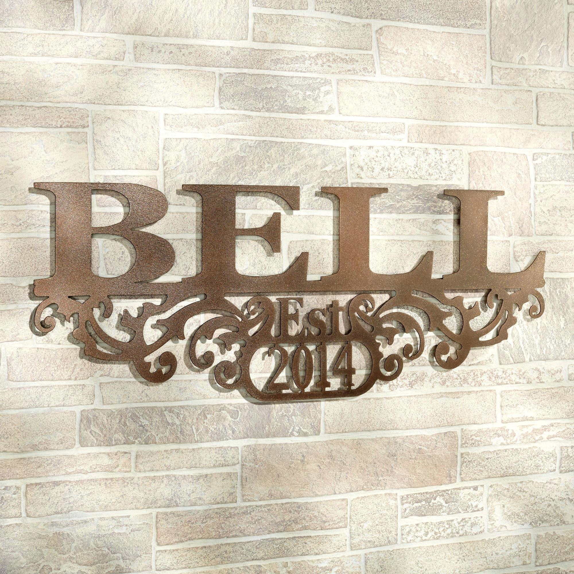 Wall Ideas : Last Name Wall Art Gifts Last Name Wall Art Custom Within Personalized Last Name Wall Art (Image 18 of 20)