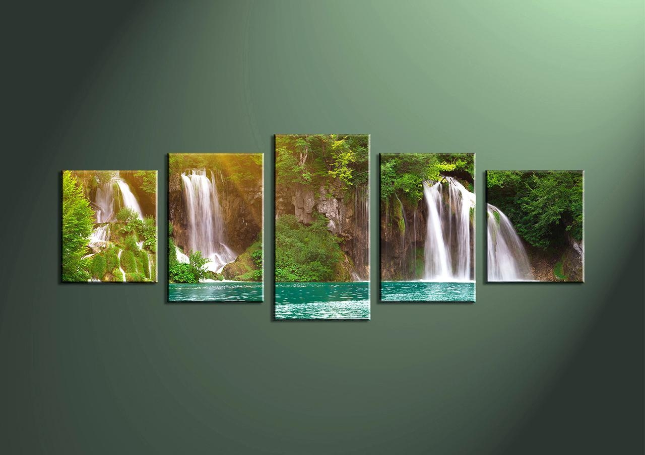 Wall Ideas : Lighted Waterfall Wall Art Home Decor 2 Piece Wall Regarding Multiple Piece Wall Art (Image 16 of 20)