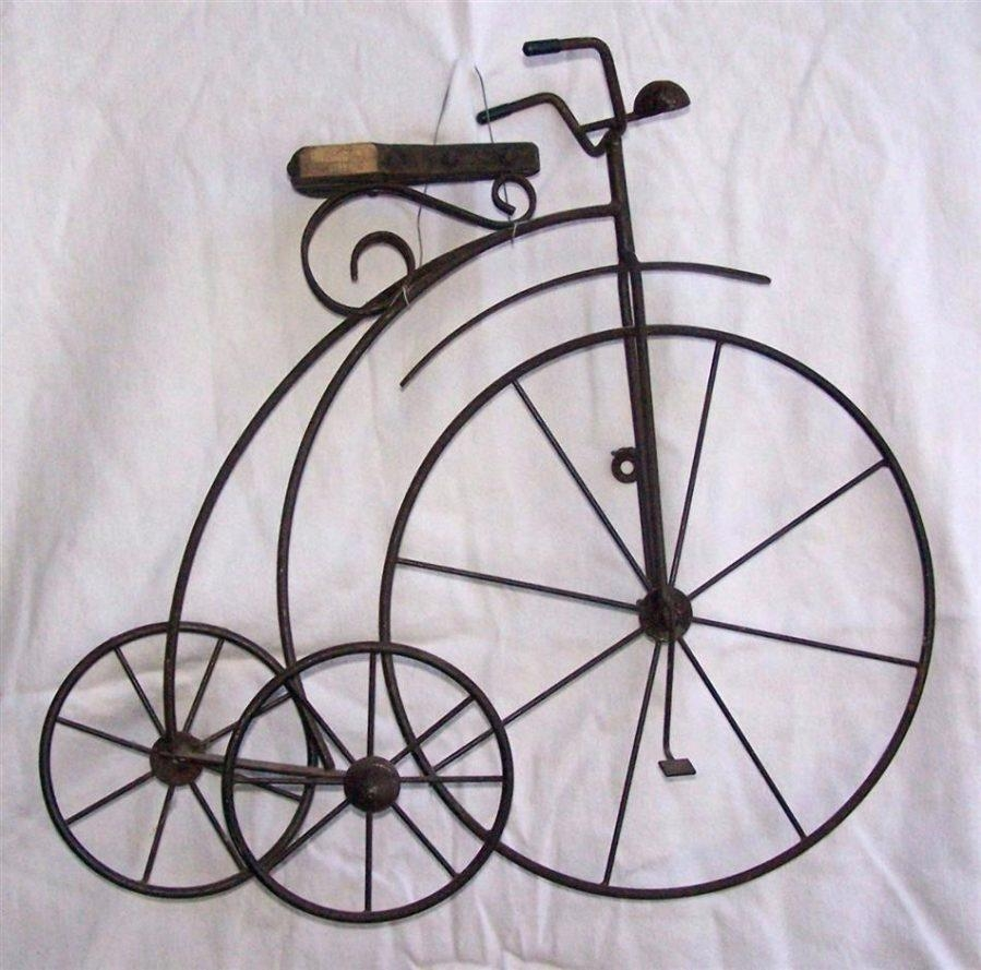 Wall Ideas : Metal Bicycle Wall Decor Antique Pitchfork Head Four Intended For Metal Bicycle Art (Image 20 of 20)
