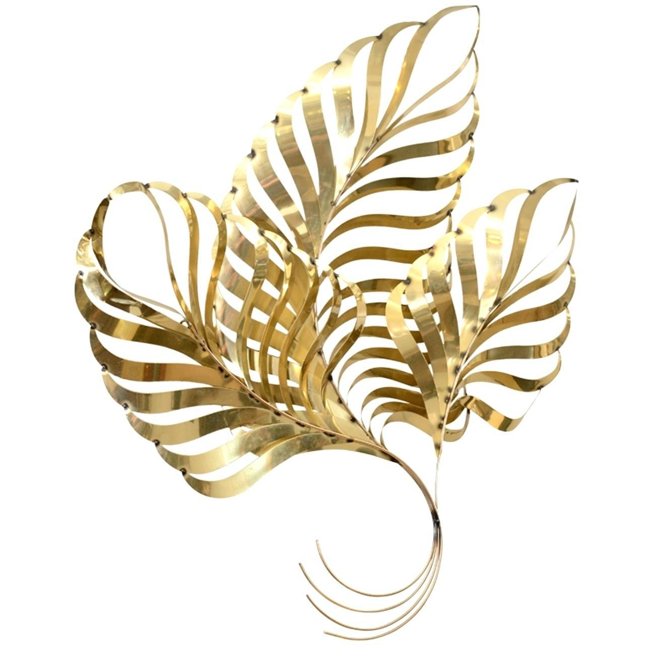 Wall Ideas : Metal Palm Leaves Wall Art Metal Leaf Wall Art Regarding Large Vintage Wall Art (Image 19 of 20)