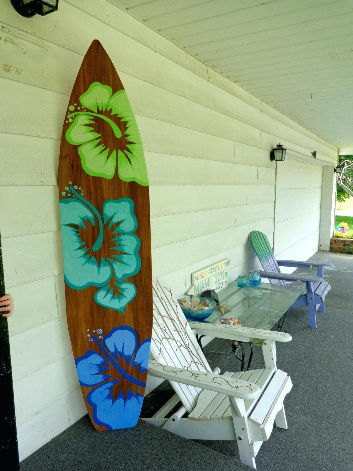 Wall Ideas : Mini Surfboard Wall Art Surfboard Wall Art Amazon in Hawaiian Wall Art