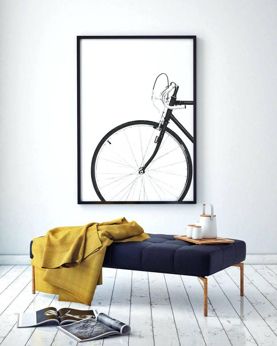 Photo wall art ideas with bicycle art