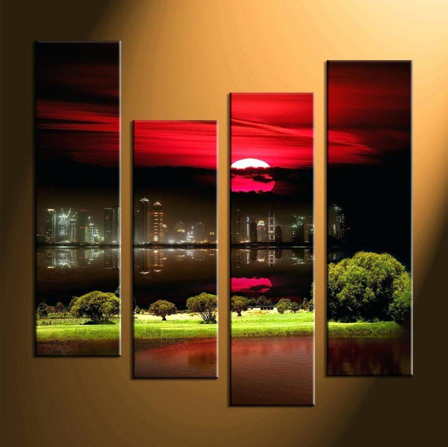 Wall Ideas : Multi Panel Canvas Wall Art Set Multi Panel Canvas With Regard To Multiple Panel Wall Art (View 2 of 20)