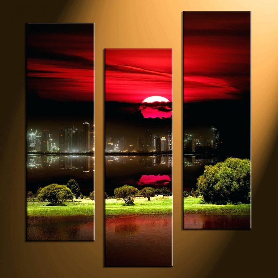 Wall Ideas : Nautique 3 Piece Wall Art Set 3 Piece Canvas Wall Art In 3 Piece Abstract Wall Art (View 13 of 20)