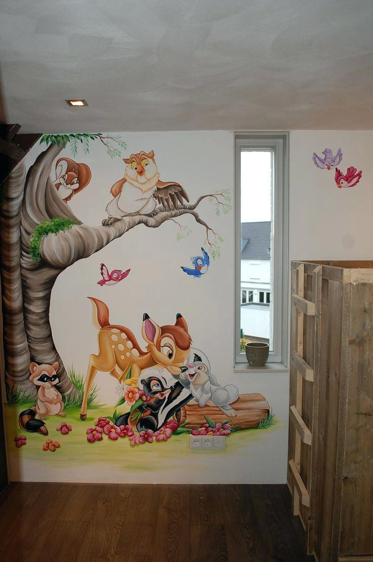Wall Ideas : Nursery Wall Murals Canada Baby Girl Wall Murals Uk Regarding Disney Canvas Wall Art (View 9 of 20)