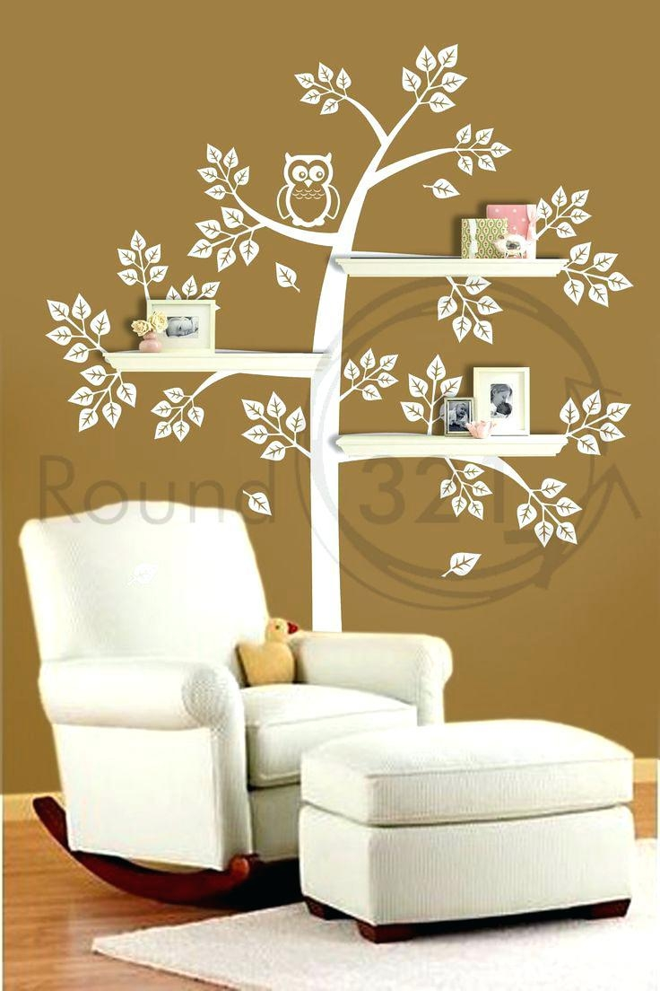 Wall Ideas : Owl Tree Vinyl Wall Art Tree Sticker Wall Decor Tree In Vinyl Wall Art Tree (Image 17 of 20)