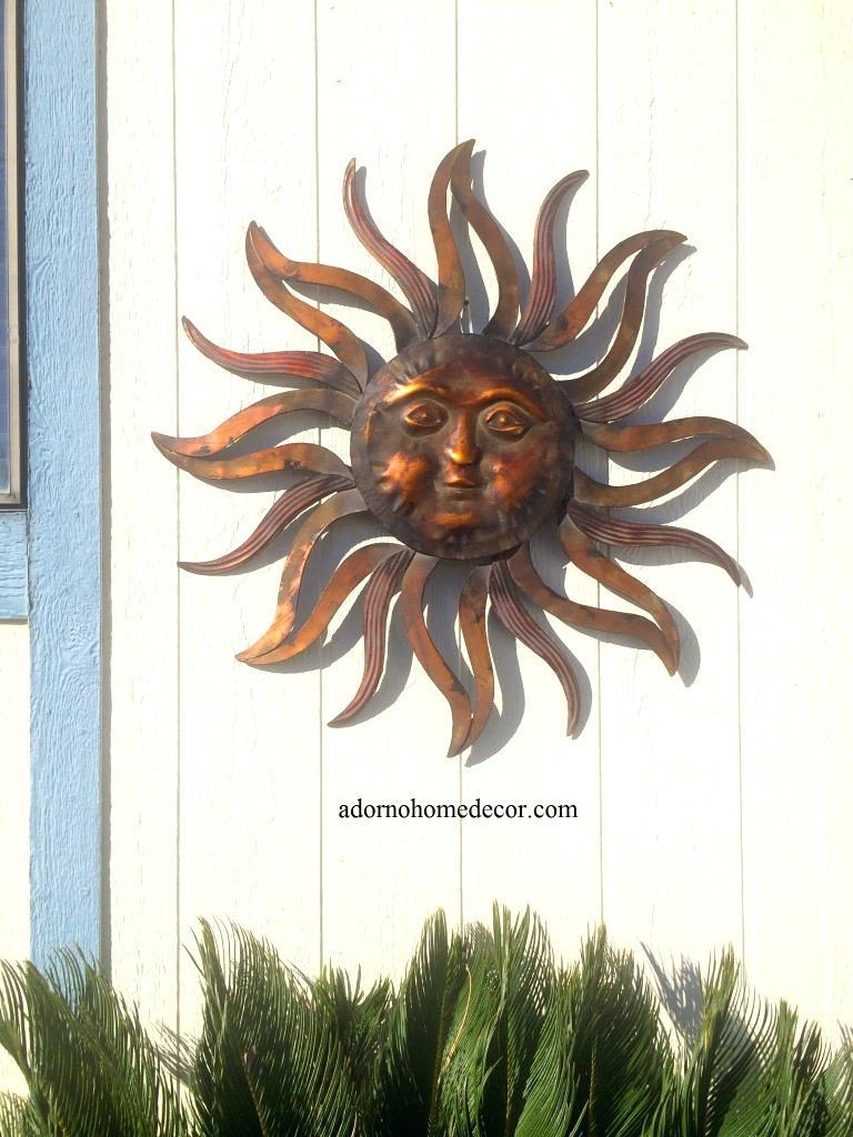 Wall Ideas : Patio Rules Wall Art Large Metal Sun Wall Decor In Outdoor Wall Sculpture Art (Image 19 of 20)