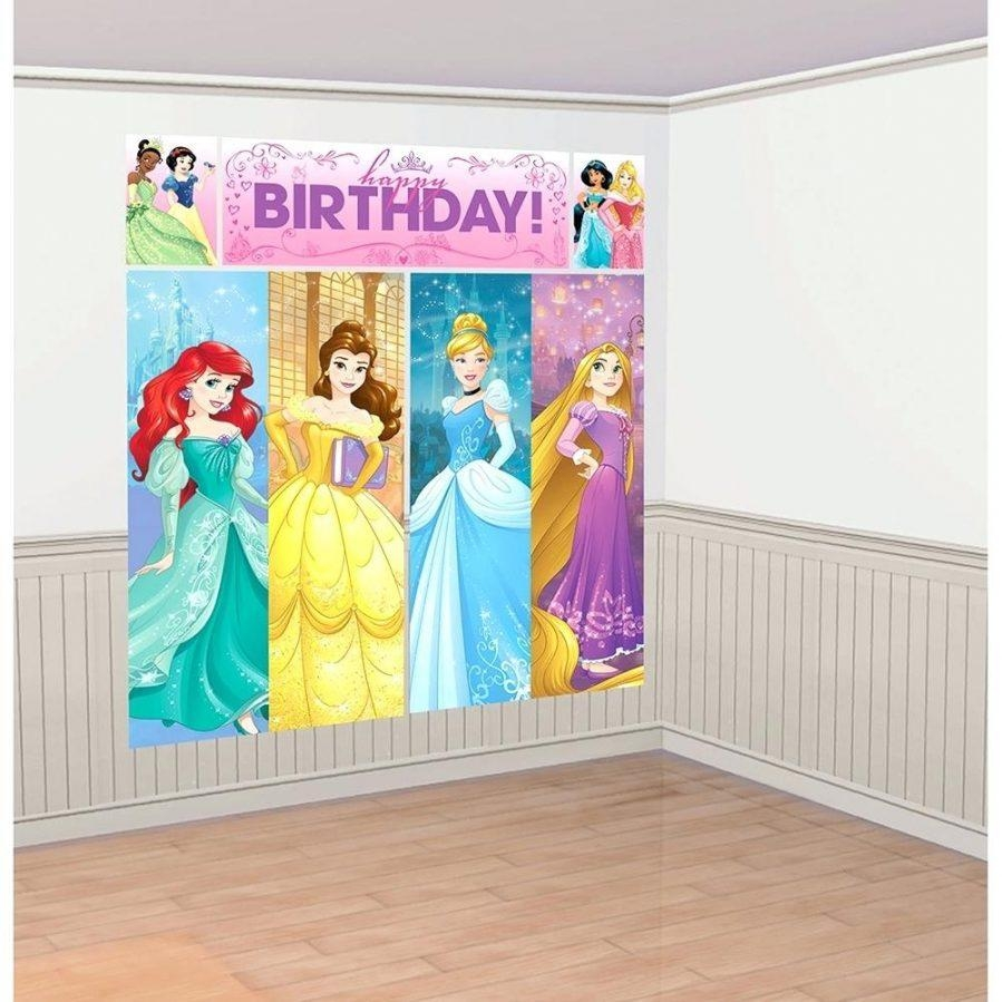 Wall Ideas : Princess Party Wall Decorations Disney Princess Wall Intended For Disney Princess Wall Art (Image 17 of 20)