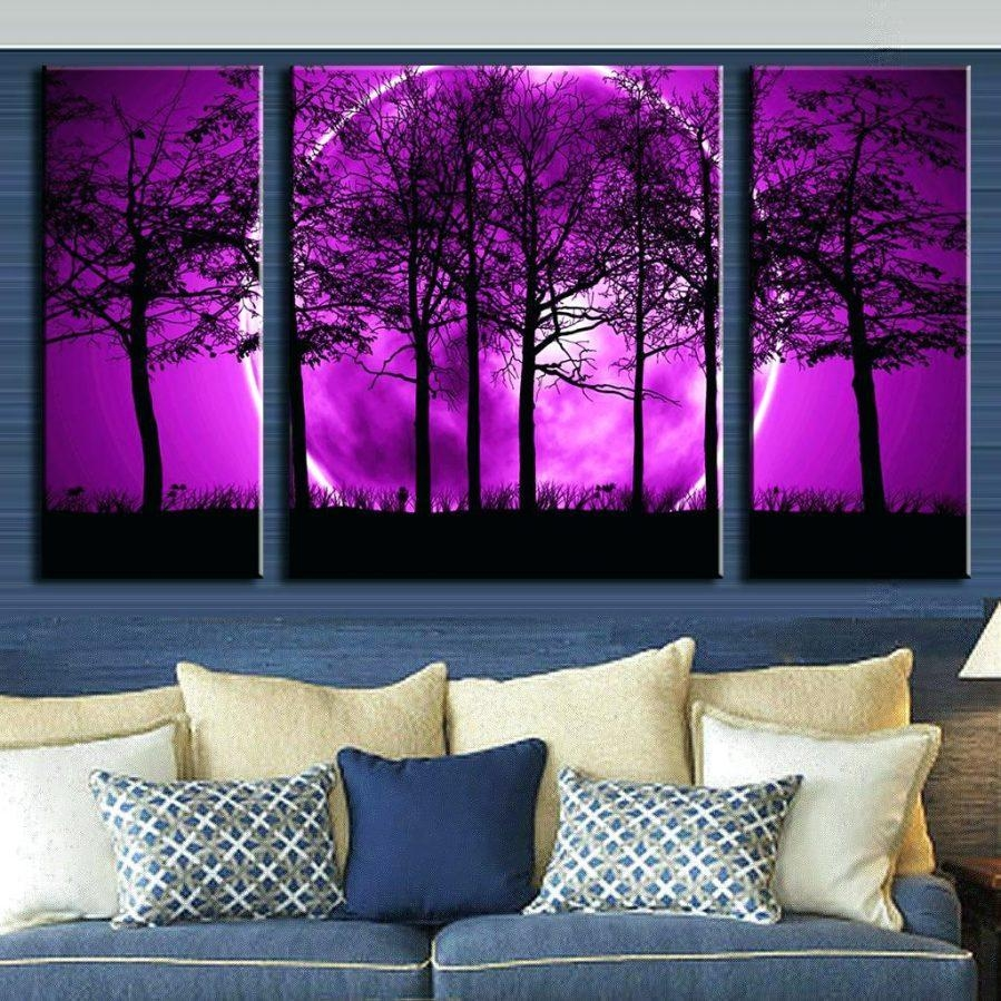 Wall Ideas : Purple Wall Designs For A Bedroom Purple Bedroom Wall Within Purple Wall Art Canvas (View 16 of 20)
