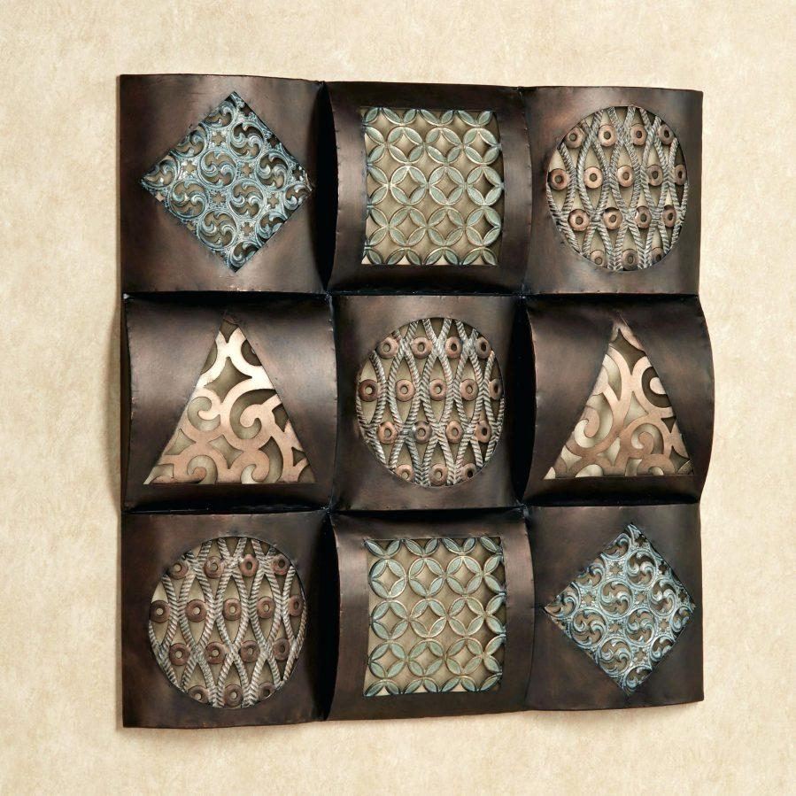 Wall Ideas : Raghnall Square Wall Art Bronze Metal Wall Art For Walmart Metal Wall Art (Image 14 of 20)