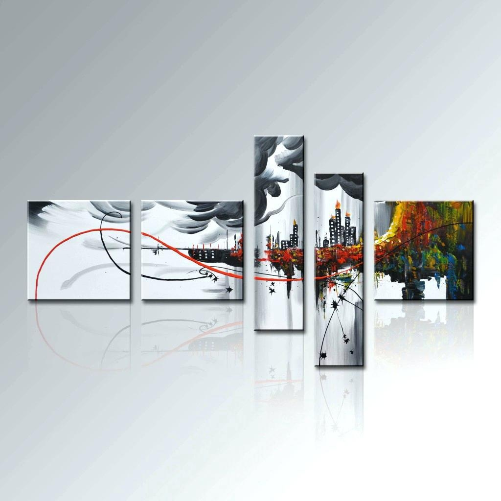 Wall Ideas : Ripple Effect Modern Abstract Metal Wall Art Painting Throughout Unique Modern Wall Art (Image 19 of 20)
