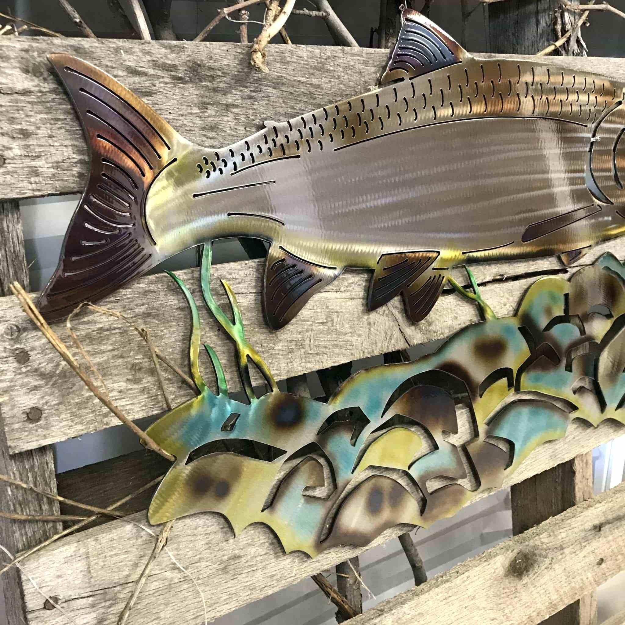 Wall Ideas : Straight Hand Hammered Fish Metal Art Metal Fish Wall Inside Hammered Metal Wall Art (Image 18 of 20)