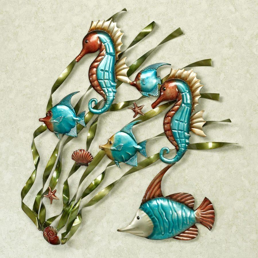 Wall Ideas : Straight Hand Hammered Fish Metal Art Metal Fish Wall Within Hammered Metal Wall Art (Image 19 of 20)