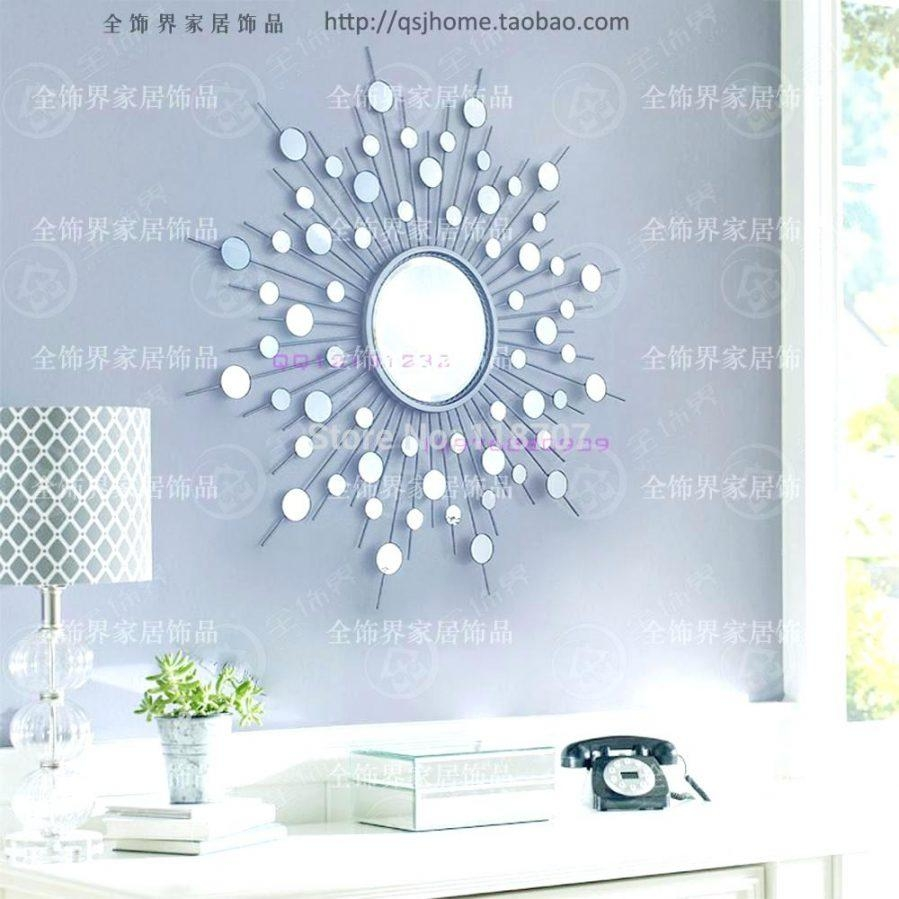 Wall Ideas : Sun Mirror Wall Decor India Sunflower Decorative Wall Regarding Mirrors Modern Wall Art (Image 18 of 20)