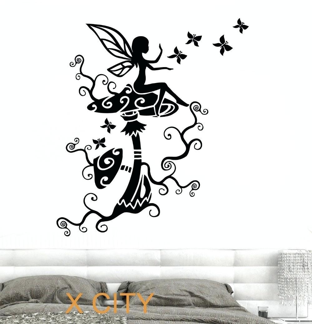 Wall Ideas : Superb White Wall Stencils Stencil Wall Art Tree Wall Within Art Nouveau Wall Decals (Image 20 of 20)