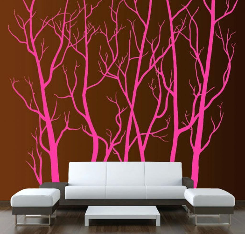 Wall Ideas : Tall Tree Wall Art Beautiful Wall Decorating Ideas In Tall Wall Art Decor (Image 17 of 20)
