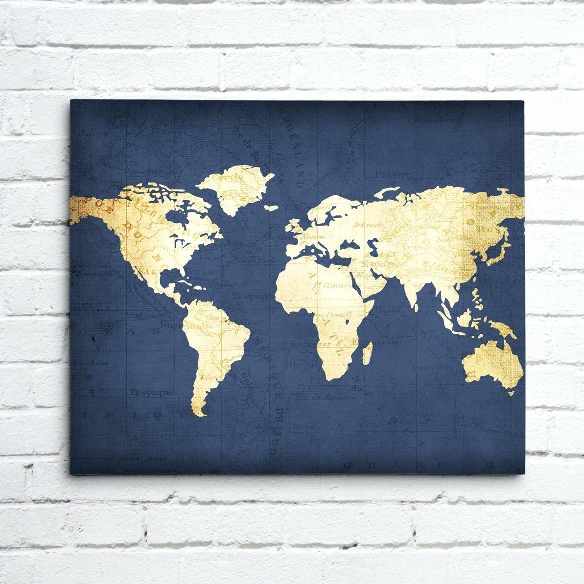 Wall Ideas : Thumbnail 1 World Map Wall Art World Map Art Canvas Within Groupon Wall Art (View 19 of 20)