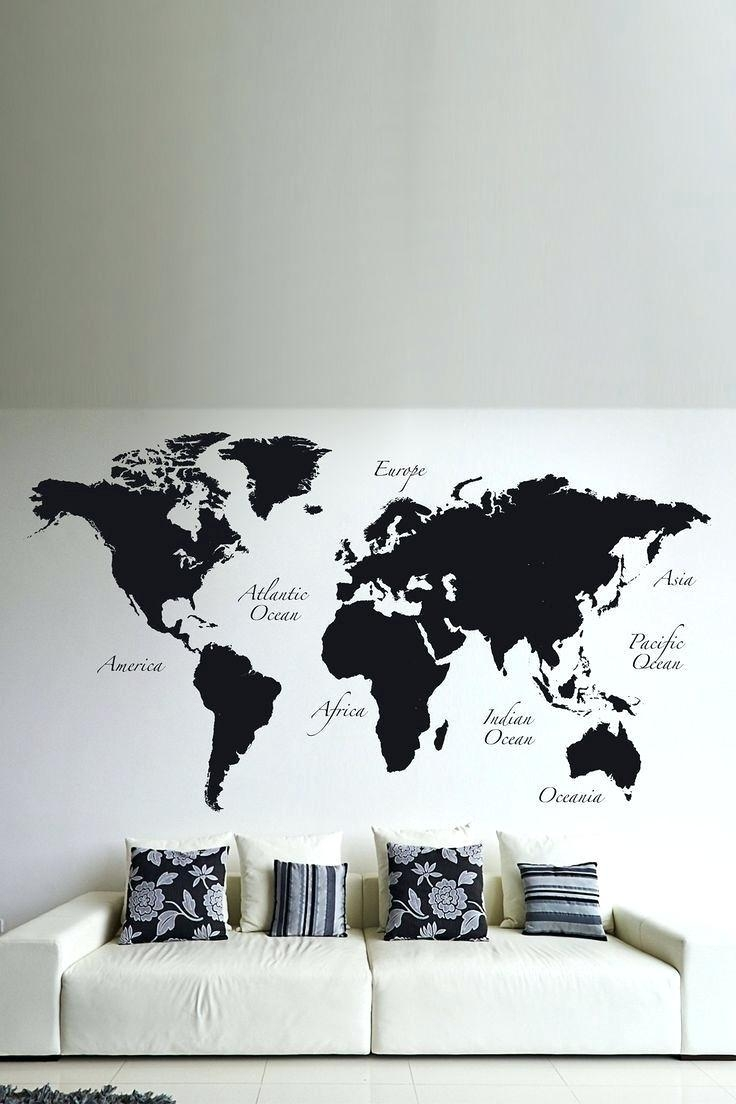 Wall Ideas : Thumbnail 1 World Map Wall Art World Map Art Canvas Within Groupon Wall Art (Image 12 of 20)