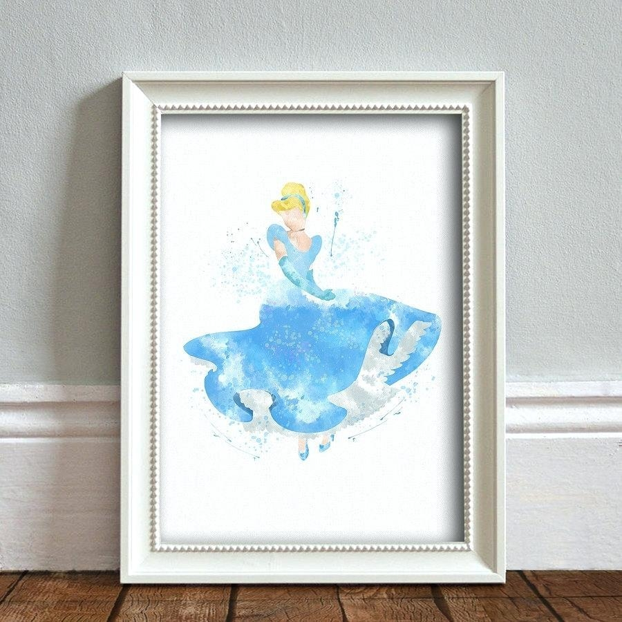 Wall Ideas : Wall Art Dont Look Back Cinderella Quote Typography Pertaining To Disney Princess Wall Art (View 7 of 20)