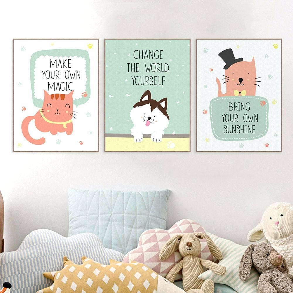 Wall Ideas : Wall Painting Ideas For Bedroom Wall Ideas For For Nursery Canvas Art (Image 18 of 20)
