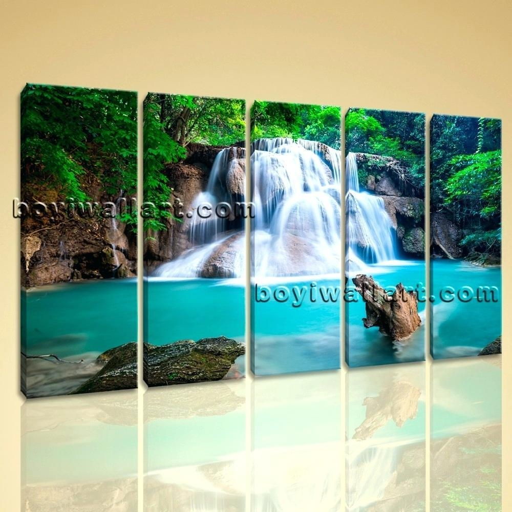 Wall Ideas: Waterfall Wall Art. Artificial Waterfall Wall (View 5 of 20)