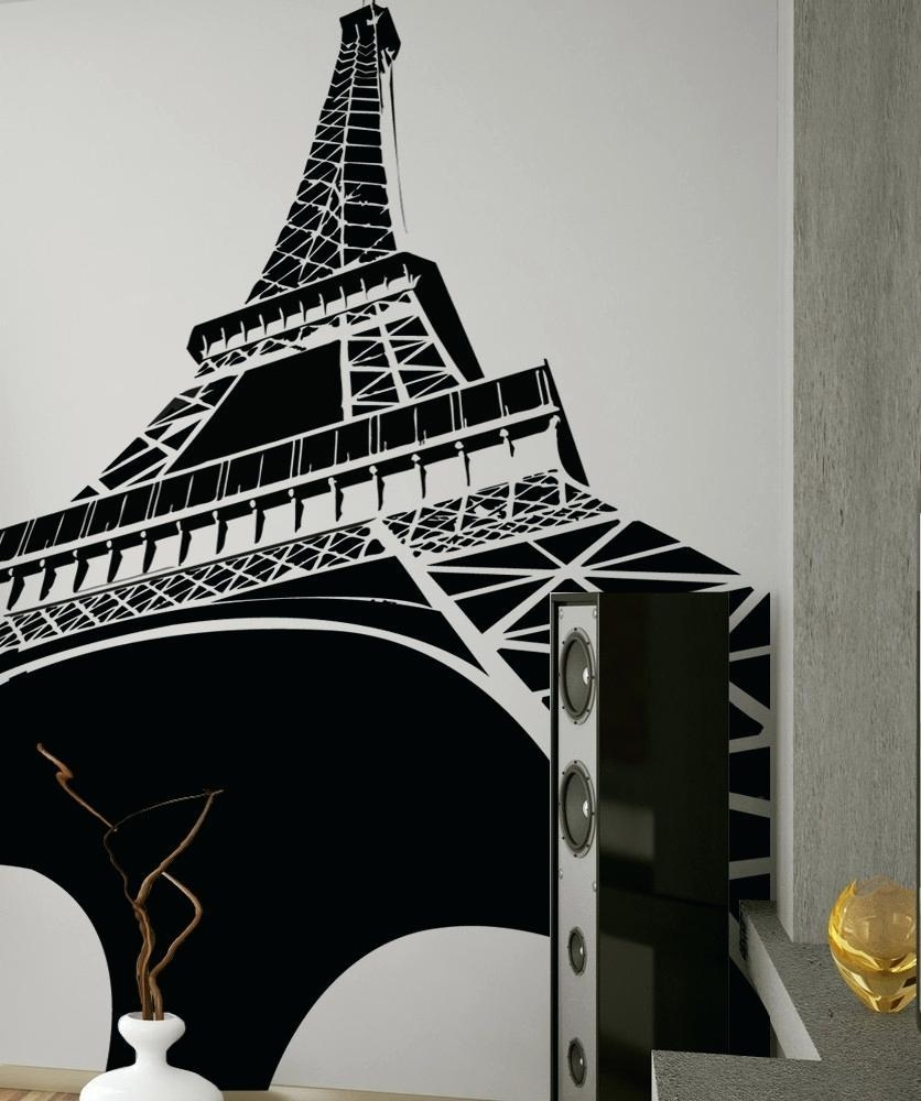 Wall Ideas : Wire Eiffel Tower Wall Decor Wall Art Cool Eiffel Intended For Eiffel Tower Wall Hanging Art (View 10 of 20)