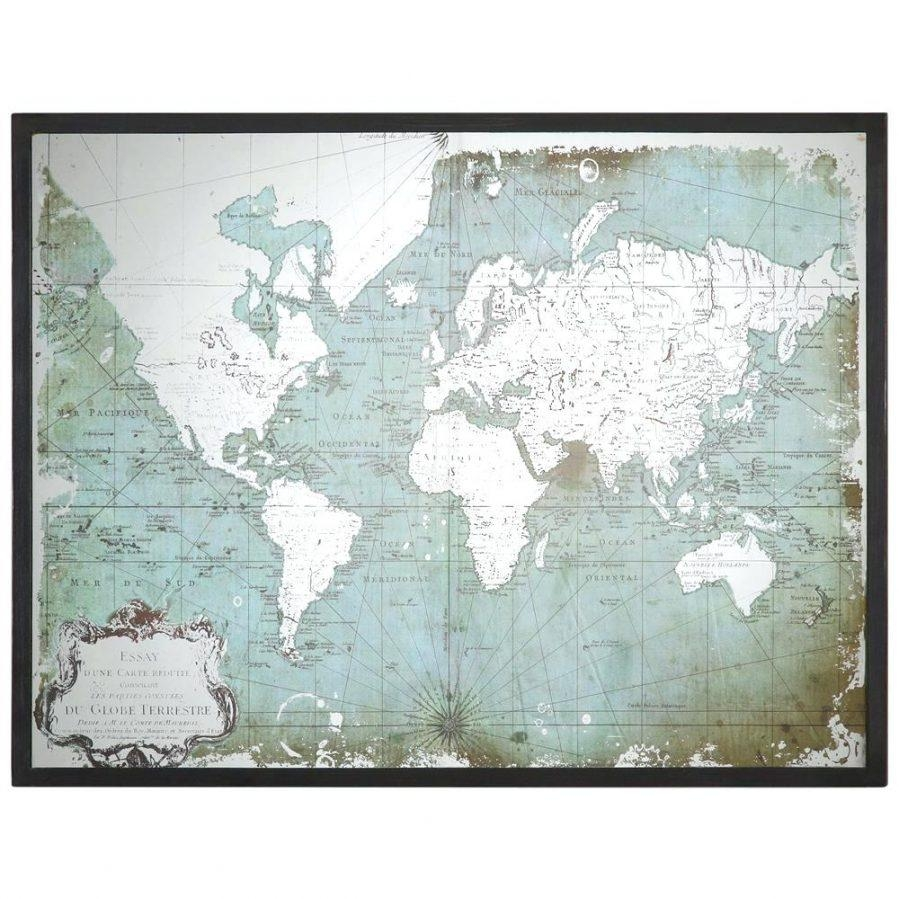 Wall Ideas : World Map Masterpiece With Church Multi Panel Canvas Intended For Old World Map Wall Art (View 14 of 20)