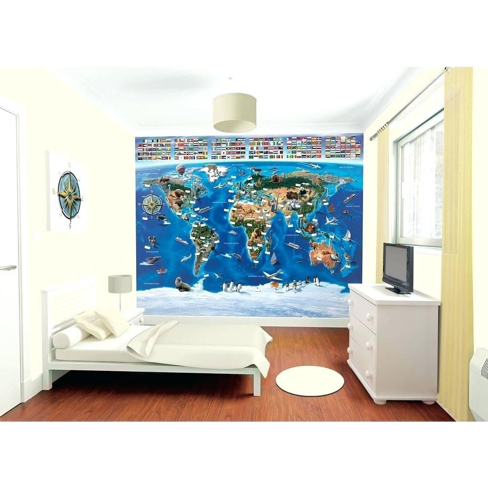Wall Ideas : World Map Masterpiece With Church Multi Panel Canvas Within Groupon Wall Art (Image 14 of 20)