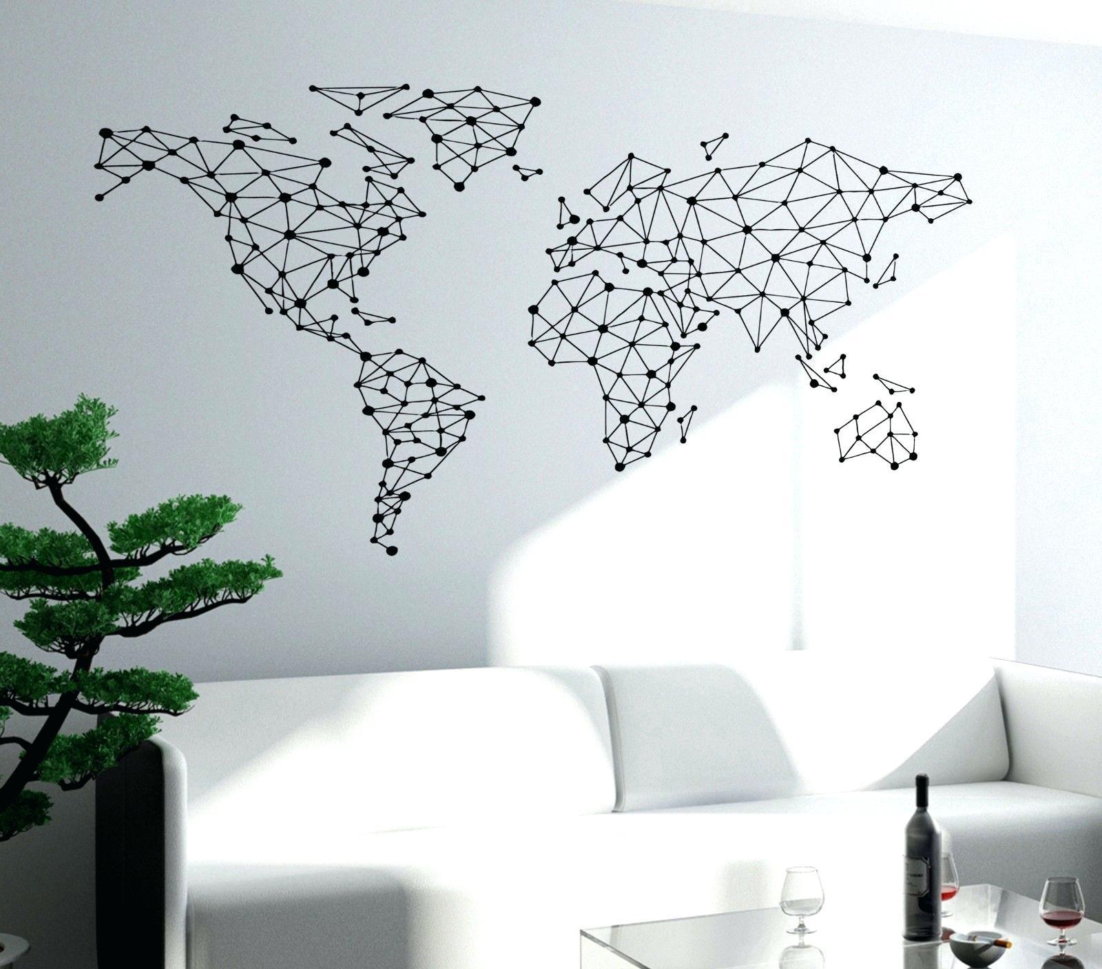 Wall Ideas: World Map Wall Art. World Map Wall Sculpture (View 8 of 20)