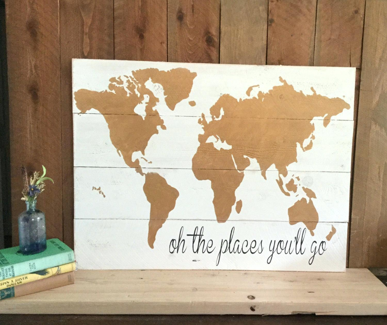 Wall Ideas: World Map Wall Art. World Map Wall Sculpture (Image 15 of 20)