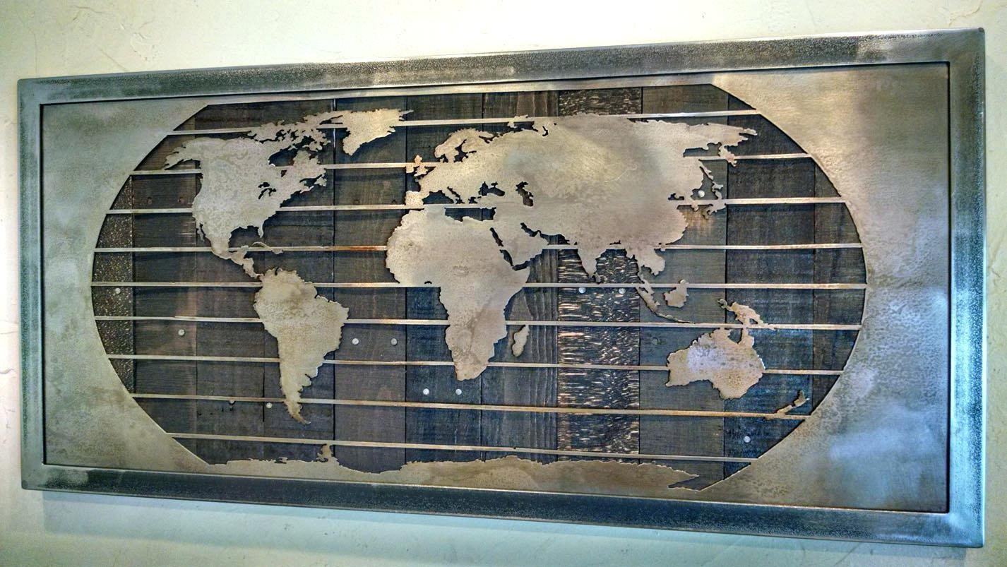 Wall Ideas : World Map Wood Wall Art Diy Large Wall Art World Map For Old World Map Wall Art (View 17 of 20)