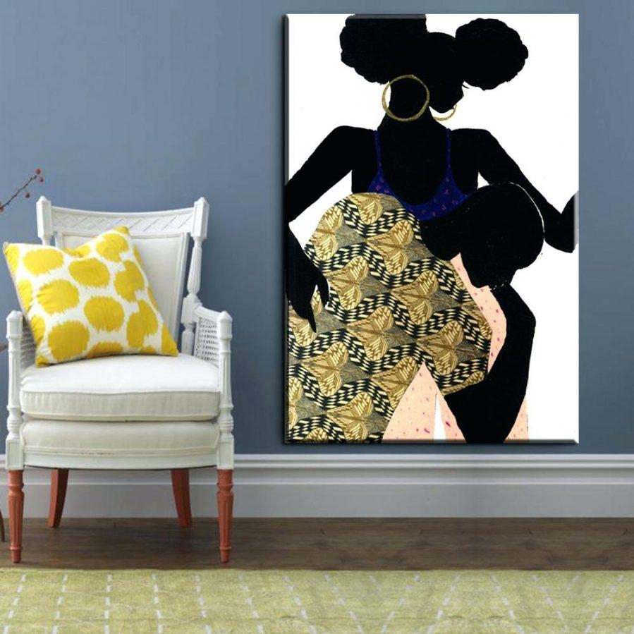 Wall Ideas : Xh604 African American Couple Art Hot Sale Bedroom Regarding African American Wall Art And Decor (View 10 of 20)