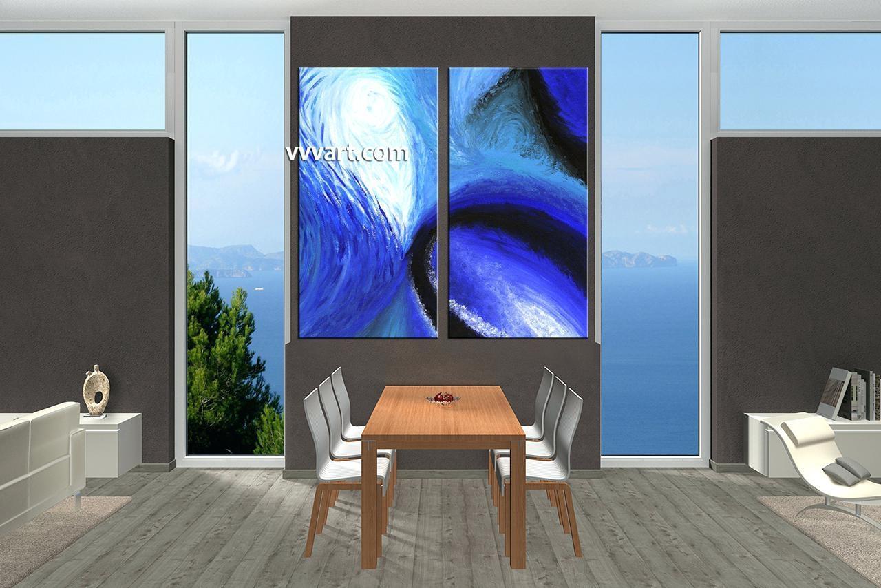 Wall Ideas : Zoom Blue Wall Art Decor Blue Wall Art Decor (Image 17 of 20)