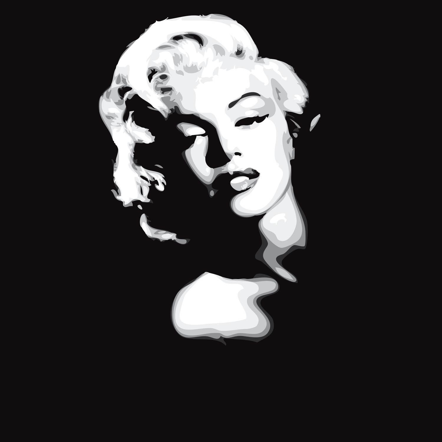 Wall Mural Marilyn Monroe Black And White | Norma – Happywall With Marilyn Monroe Black And White Wall Art (View 17 of 20)