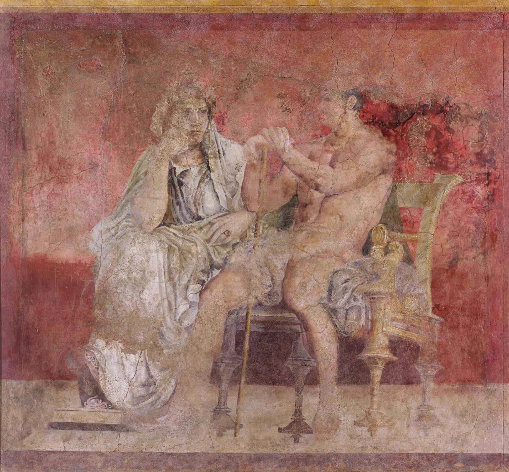 Wall Painting From Room H Of The Villa Of P (Image 20 of 20)