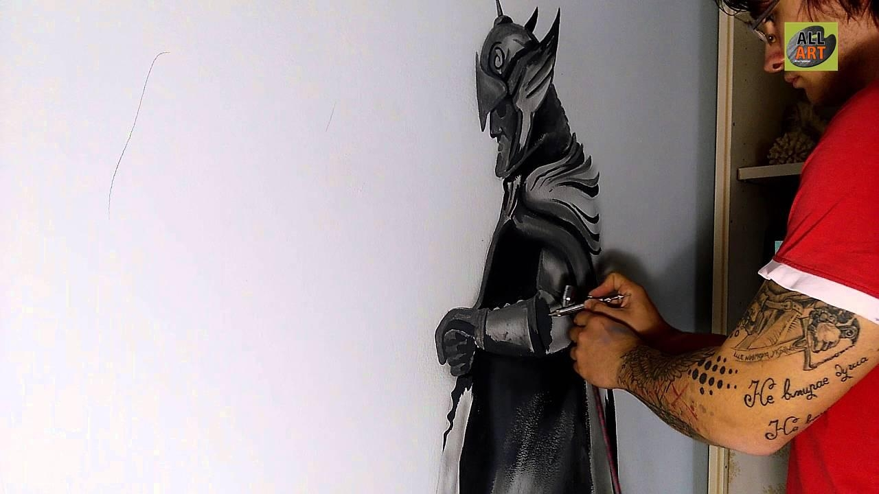 Wall Painting Skyrim / Part 1 /all Art / Airbrush – Youtube Intended For Airbrush Wall Art (Image 19 of 20)