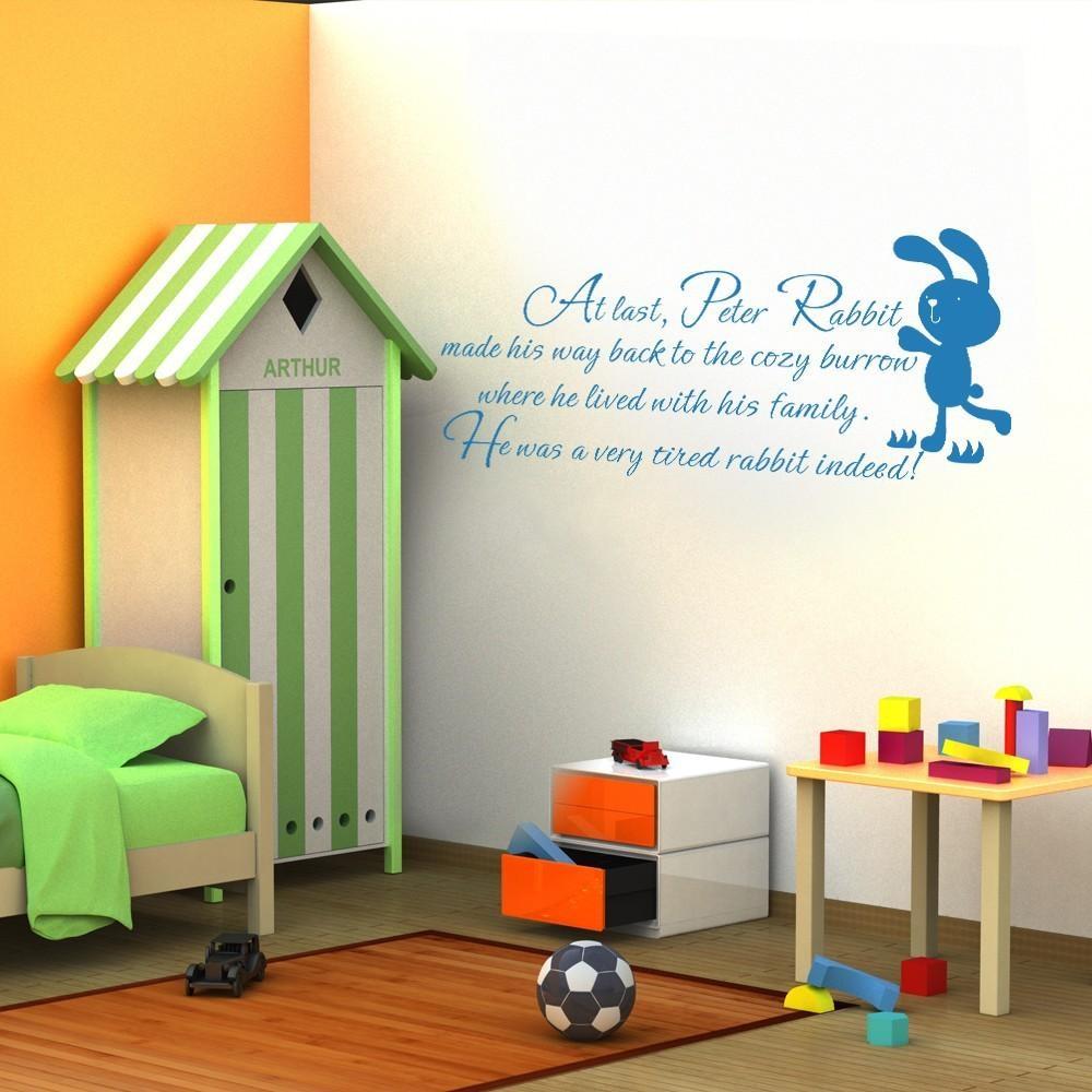 Wall Quotes Picture – More Detailed Picture About Children Wall Intended For Peter Rabbit Wall Art (Image 19 of 20)