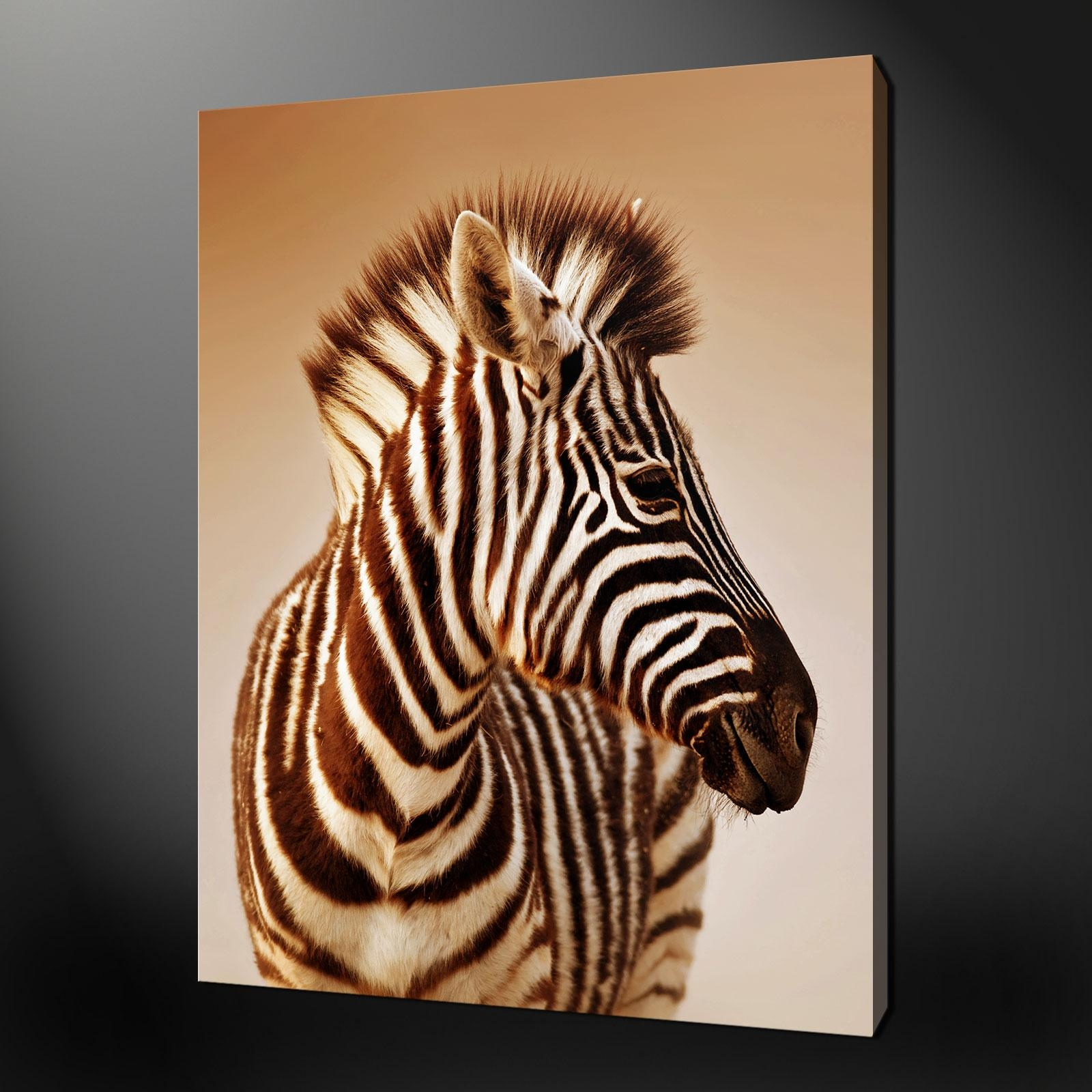 Featured Image of Zebra Wall Art Canvas