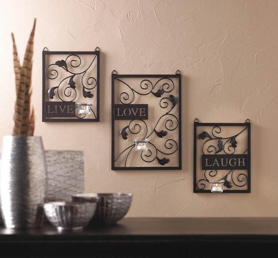 Walmart Wall Art | Roselawnlutheran Intended For Live Love Laugh Metal Wall Art (Image 20 of 20)