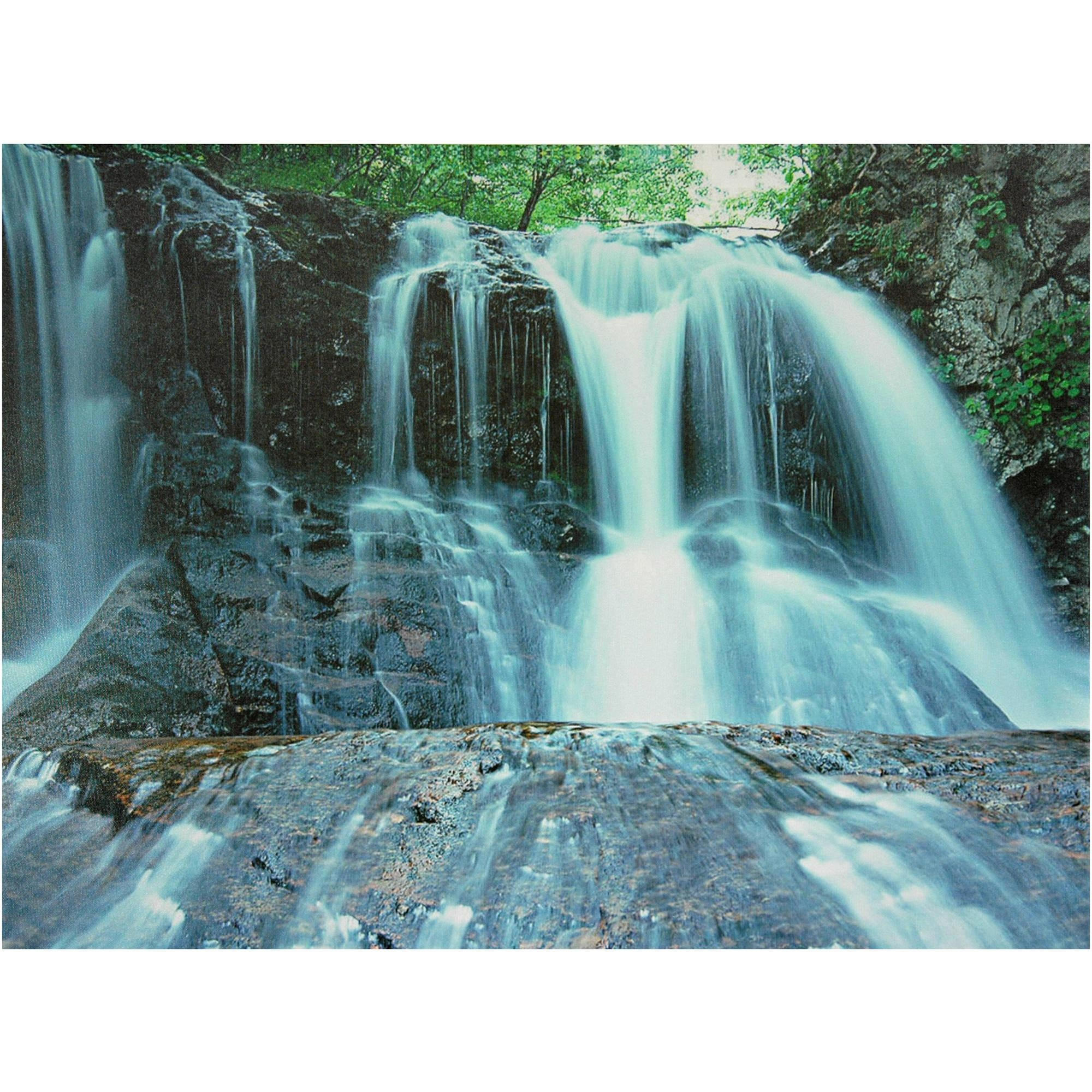 Waterfall Canvas Wall Art – Walmart Regarding Waterfall Wall Art (View 3 of 20)