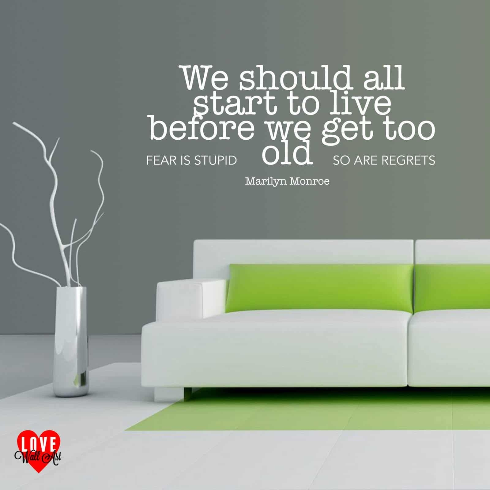 We Should All Start To Live Marilyn Monroe Wall Art Quote Wall Sticker With Regard To Marilyn Monroe Wall Art Quotes (View 6 of 20)
