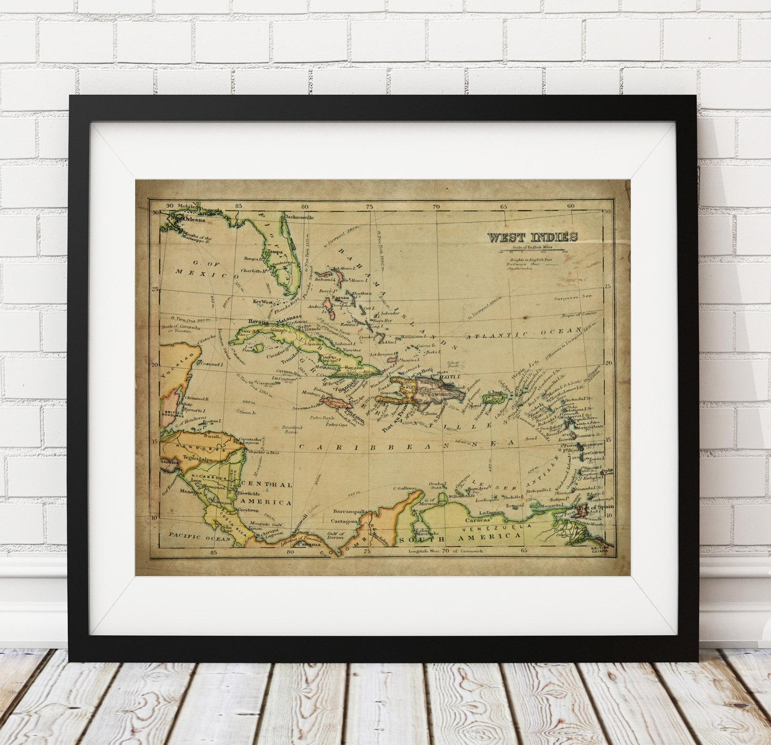 20+ Choices of Vintage Map Wall Art | Wall Art Ideas