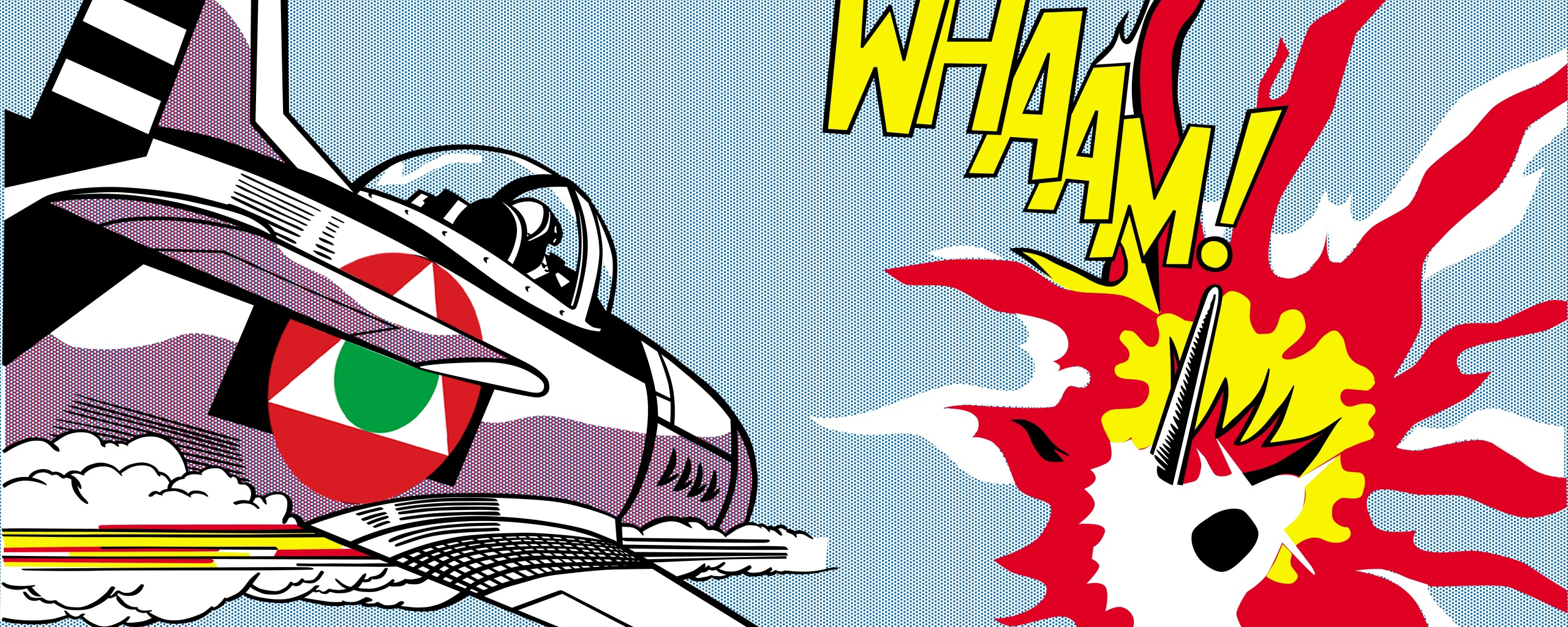 Whaam! (1963)Pop Artist Roy Lichtenstein Wallpaper And Throughout Pop Art Wallpaper For Walls (Image 20 of 20)