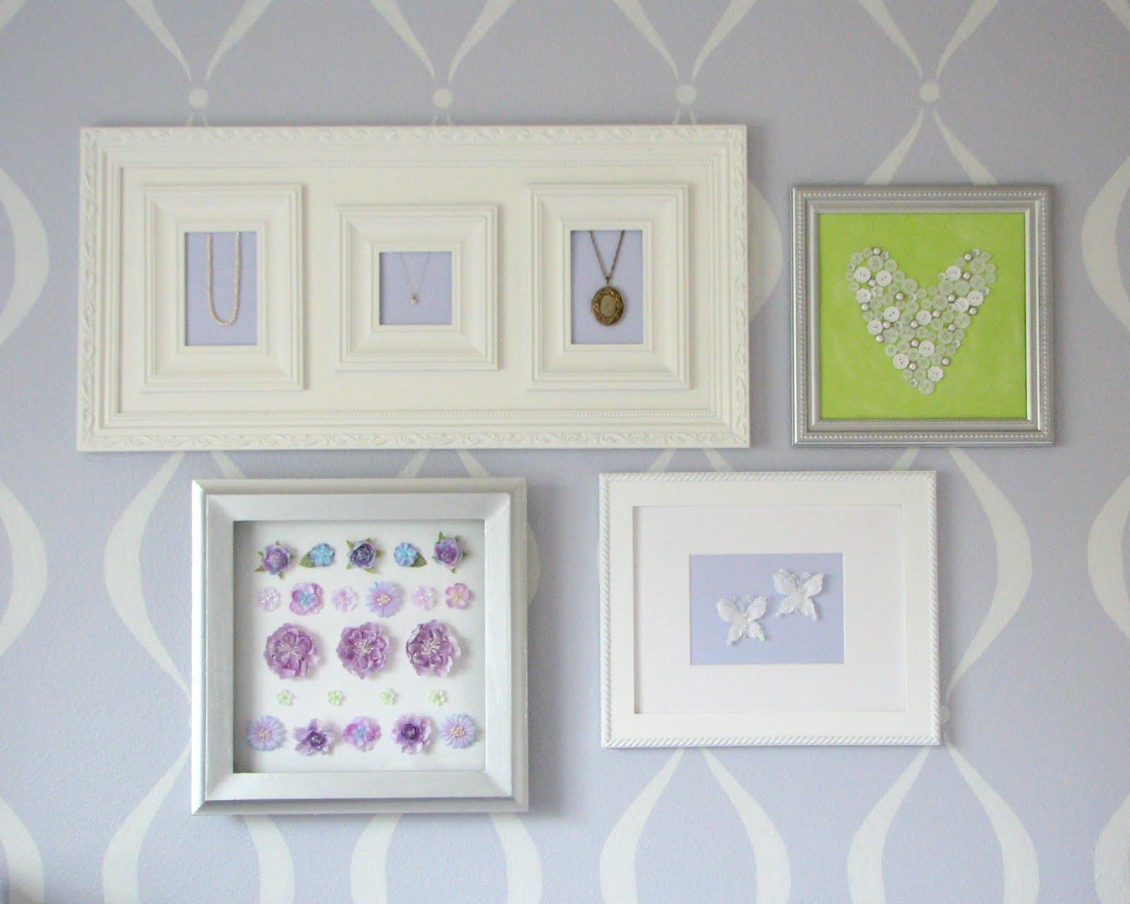 What I Made Today: Baby Girl's Nursery: Wall Art Pertaining To Nursery Framed Wall Art (View 15 of 20)