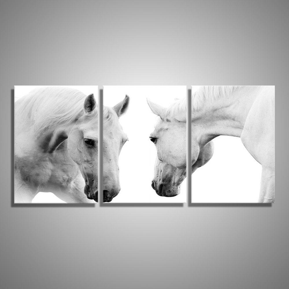 White Horses 3 Piece Wall Art | Cratemill In 3 Piece Wall Art (Image 20 of 20)